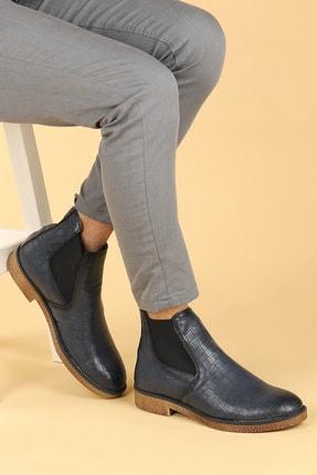 Ayakland Erkek Lacivert Kroko Termo Taban Bot Ayakkabı 5100