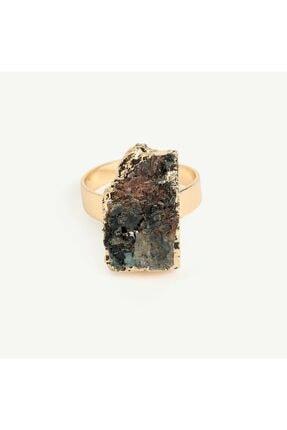 Yargıcı Asimetrik Lapis Lazuli Taşlı Yüzük