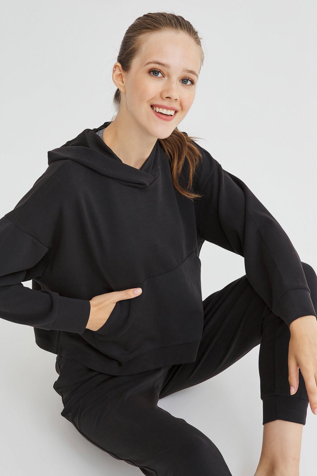 Penti Siyah Cupro Sweatshirt