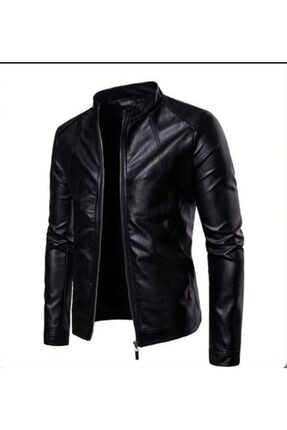 Derimont's Blanch Erkek Siyah Deri Ceket