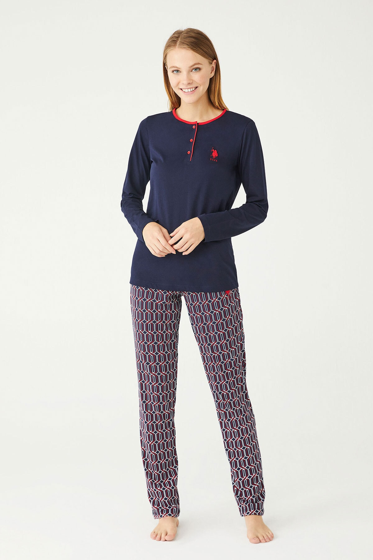 U.S. Polo Assn. U.s Polo Assn. Bayan Pijama Takımı 16389 1