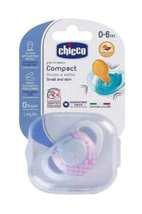 Chicco Physio Compact Kauçuk Tekli Emzik 0-6 Ay Kız