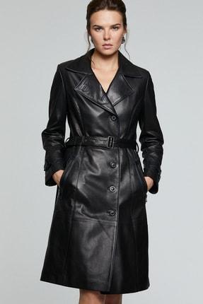 Derimod Kadın Siyah Anastasia Deri Ceket