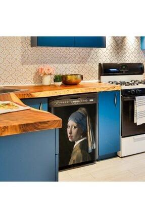 Artikel Vermeer Inci Küpeli Kız Bulaşık Makinesi Sticker