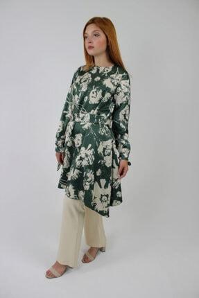 Loreen Kadın Çağla Yeşil Tunik Pantolon Ikili Takım