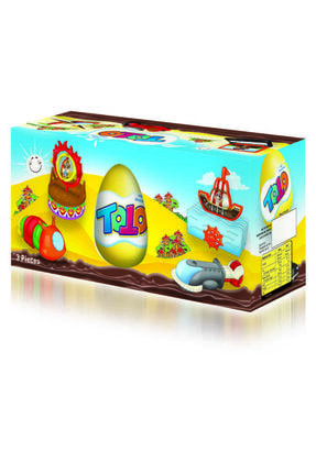 Elvan Toto Sürpriz Çikolata Yumurta 20 gr 3lü 3 Adet