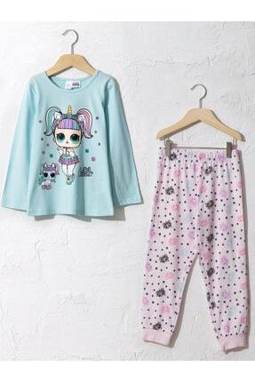 LC Waikiki Kız Çocuk Mavi Pijama Takım