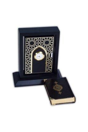 Hayrat Neşriyat Dikey Saatli Ahşap Muhafazalı Kur'an-ı Kerim (cep Boy)
