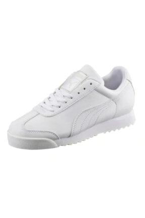 Puma Roma Basic Jr 354259-14 Kadın Beyaz Spor Ayakkabı