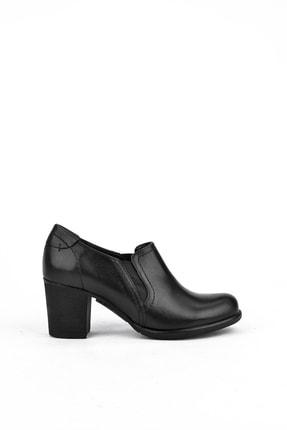 Ziya Kadın Siyah Hakiki Deri Ayakkabı 10319 4020