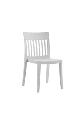 Papatya Eden-s Plastık Sandalye Bahçe Mutfak Restoran Kafe Açık Gri