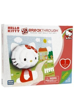 Mega Puzzles Mega Puzzle 140 Parça 3 Boyutlu Puzzle Breakthrough Hello Kitty