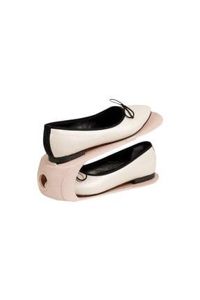 English Home Loya Plastik 2 Katlı Ayakkabı Rampası 10,5x26,3x15 cm Pudra
