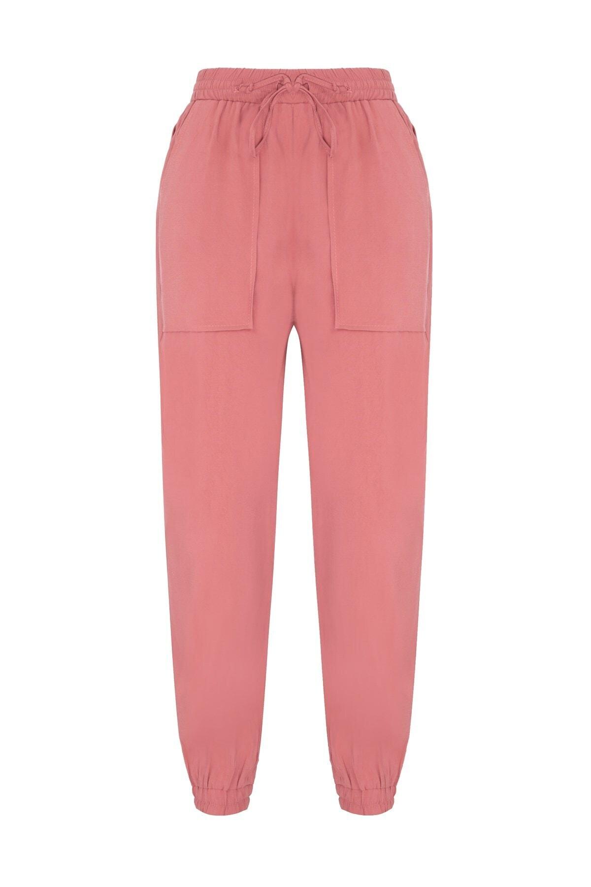 Oblavion Kadın Gülkurusu Beli Lastikli Pantolon 1
