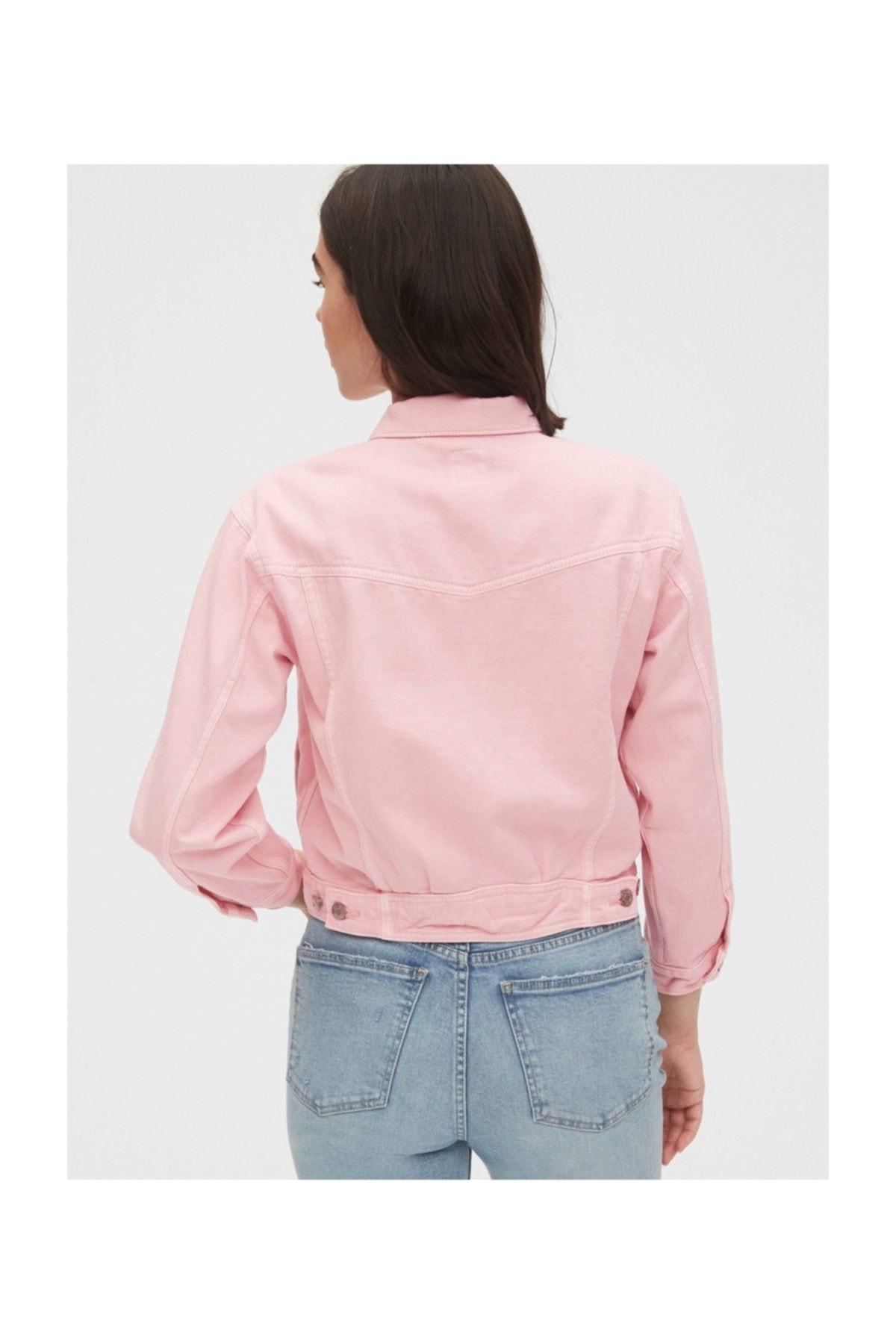 GAP Kadın Crop Icon Denim Ceket 2