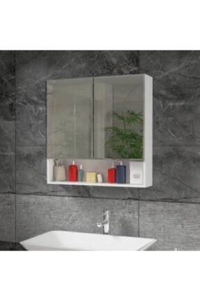 ARS GRUP MOBİLYA Aynalı Raflı Banyo Lavabo Dolabı L 70