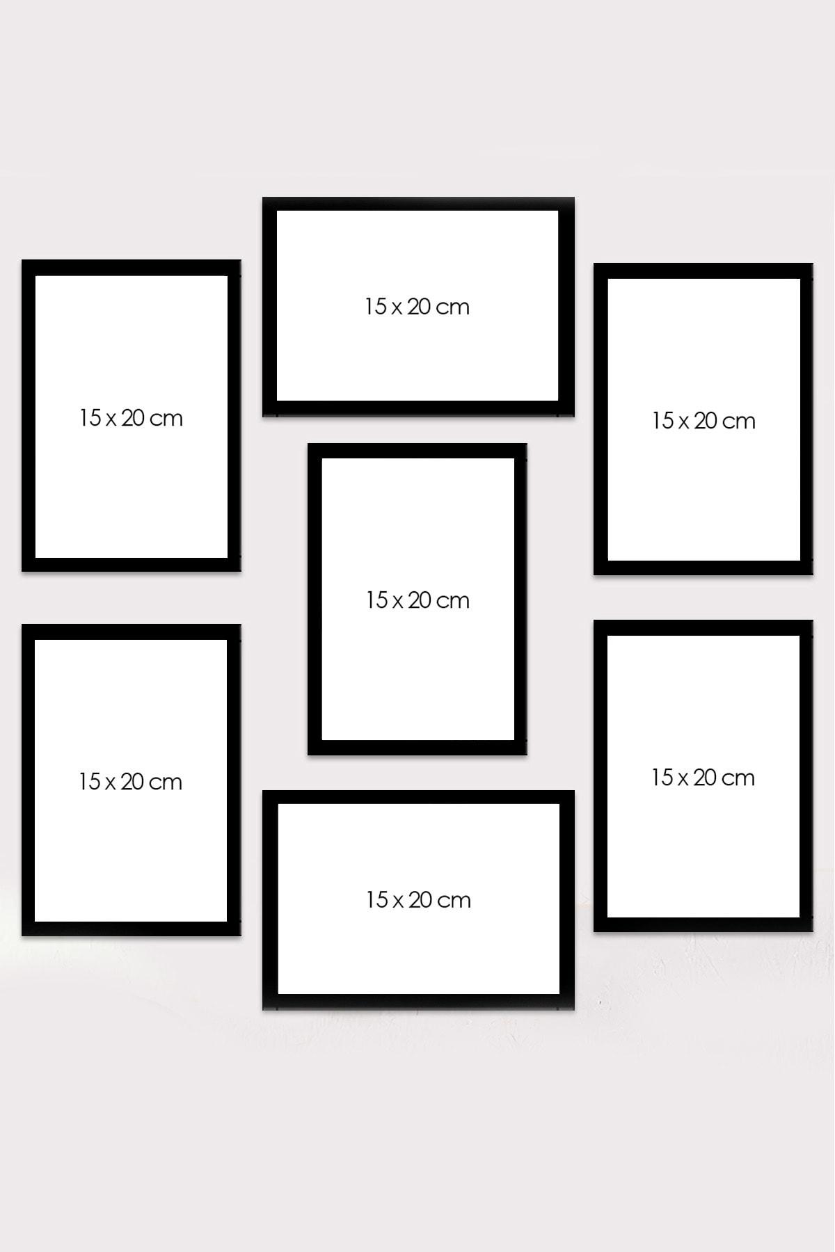 Kate Louise Çerçeve Görünümlü Mdf Tablo Seti 60x60 cm 7 Parça 2