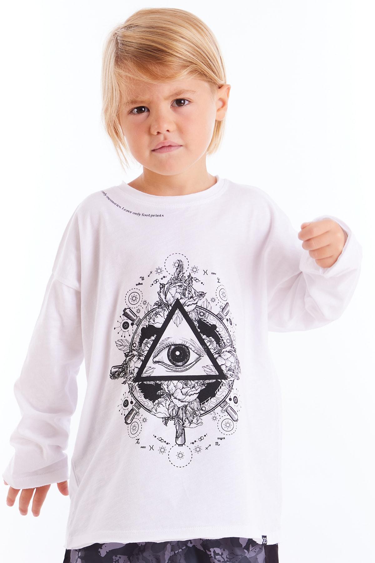 Colorinas Kız Çocuk Beyaz Baskılı Tshirt 1