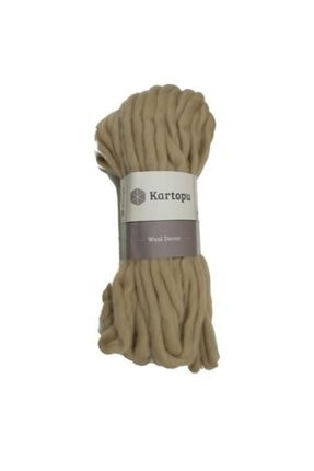 Kartopu Wool Decor Bej El Örgü Ipi - K1883