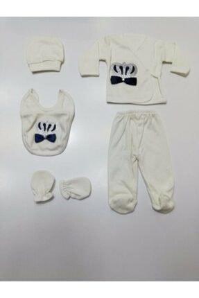 Bambino Erkek Bebek Kral Taç Süslemeli 5'li Hastane Çıkışı