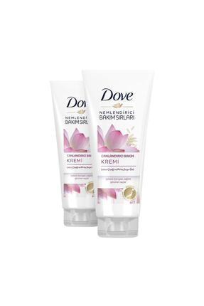 Dove Lotus Çiçeği ve Pirinç Suyu Özlü Canlandırıcı Saç Bakım Kremi 170 ml X 2