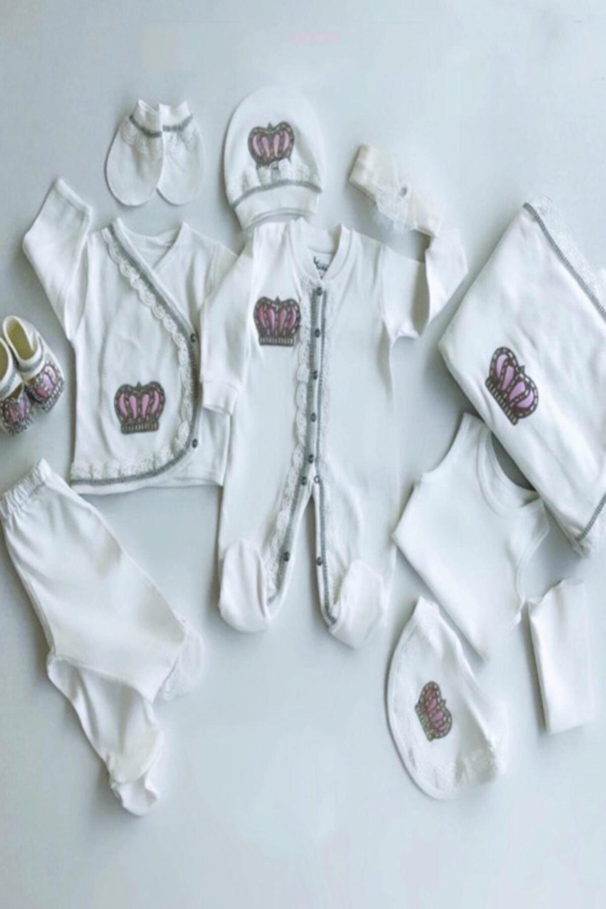 Eda Baby Beyaz Taşlı Hastane Çıkışları 1