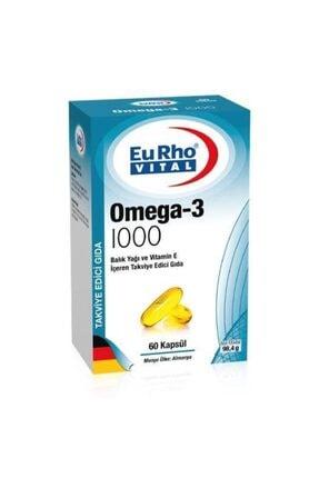 Eurho Vital Omega-3 1000 Balık Yağı 60 Kapsül
