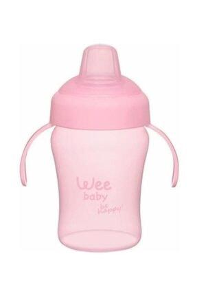 Wee Baby Colorful Akıtmaz Kulplu Bardak Pembe 240ml