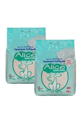 Alice Kartopu Beyaz Sabun Ve Ince Taneli Kedi Kumu 2x10kg (23lt)