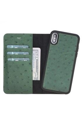 PLM Mw Deri Telefon Kılıfı Iphone X-xs De6 Yeşil