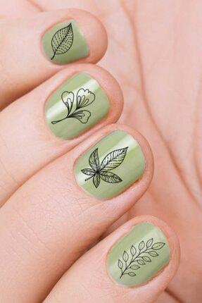 Artikel Yapraklar Tırnak Dövmesi, Tırnak Tattoo, Nail Art, Tırnak Sticker