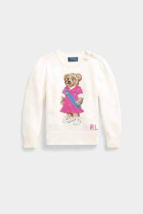 Polo Ralph Lauren Kids Polo Ralph Lauren 2-6.5 Yaş Kız Çocuk Polo Bear Örgü Triko