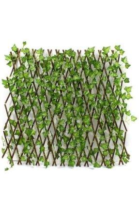 Sever Yapay Sarmalıklı Çit, Açılır Kapanır Ahşap Çit, Dekoratif Bahçe Çiti 120 Cm X 2,50mt'e Uzatılabilir