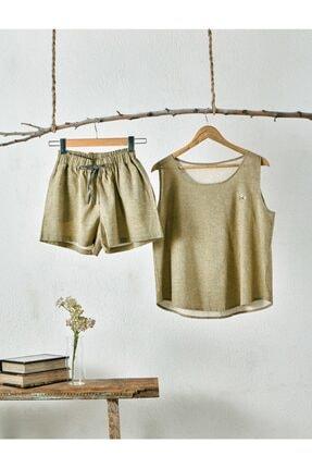 Ecocotton Helen Şortlu Pijama Takımı (yeşil / L)