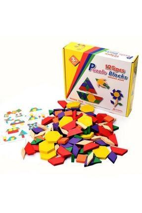 SepeteGelsin Wooden Toys 125 Parça Ahşap Eğitici Tangram Puzzle Blok Seti