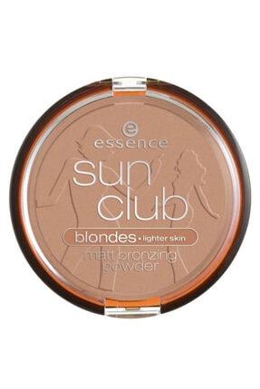 Essence Sun Club Matt Bronzing Powder Pudra Lighter Skin No: 01