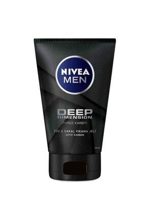 Nivea Men Deep Dimension Yüz  Sakal Temizleme Jeli 100 ml