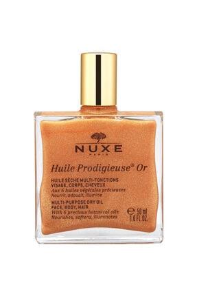 Nuxe Huile Prodigieuse Or - Altın Parıltılı Çok Amaçlı Kuru Yağ (Yüz, Vücut, Saçlar) 50 ml