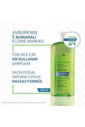 Ducray Extra-doux Günlük Kullanım Şampuan 200 ml