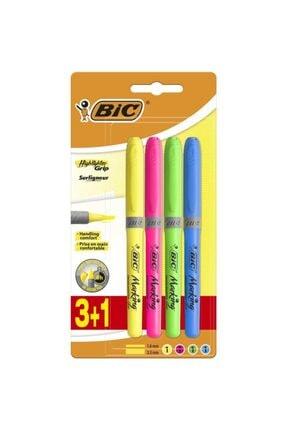 Bic Fosforlu Kalem 4 Renk Kalem Tipi Grip Marking