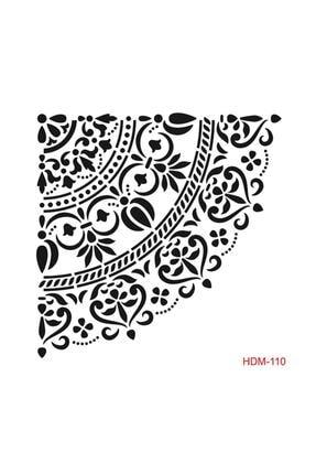Cadence Mandala Köşe Stencil (şablon) 25x25 Cm