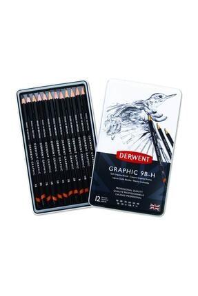 Derwent Graphic Pencils 12'li Set Teneke Kutu (34215)