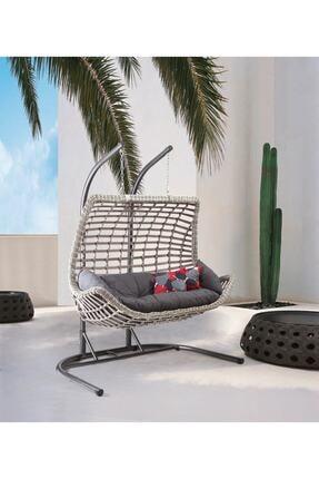 Capri Swing Modern Salıncak Iki Kişilik Bahçe Balkon Salıncağı Cunda