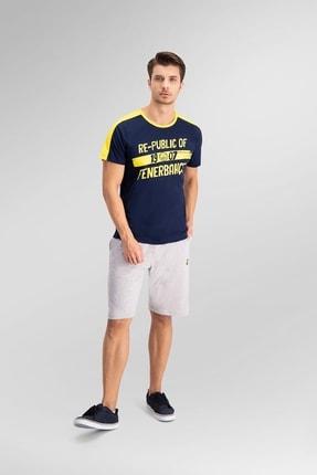 Fenerbahçe Lisanslı lacivert Erkek Bermuda Takım