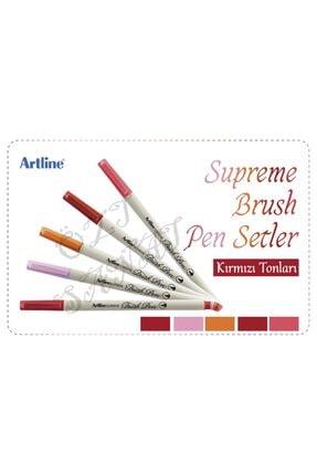 artline Supreme Brush Pen Kırmızı Tonları 5 Renk Set