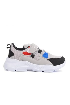 Pierre Cardin 30631 Gri Çocuk Bantlı Yürüyüş Koşu Ayakkabısı