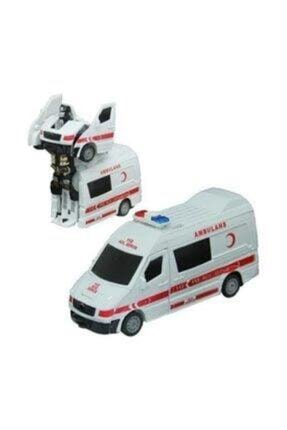 CAN Işıklı Sesli Robota Dönüşen Ambulans Itfaiye Polis