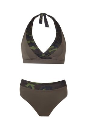 Zeki Triko Kadın Haki Bikini Takımı 1028