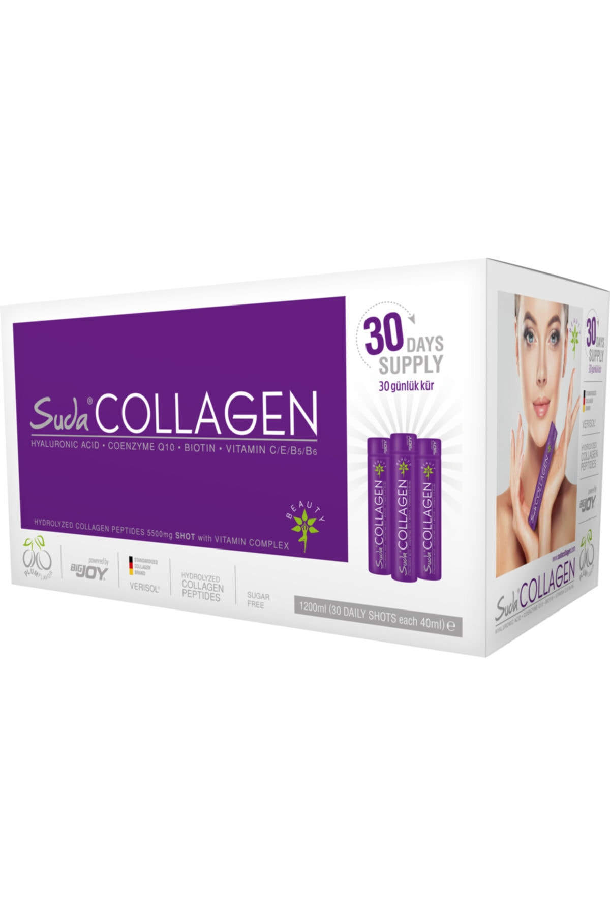 Suda Collagen 40 ml 30 Adet Aylık Paket (ERİK AROMALI) 1