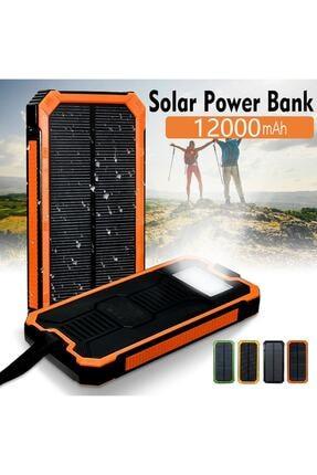 ULTRATEKNO 12.000 Mah Solar Güneş Enerjili Taşınabilir Şarj Powerbank Fener